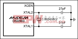 Figure 2. Crystal connection for the DS8500.