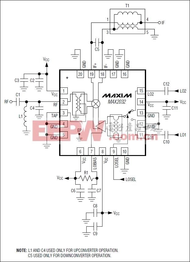 MAX2032:典型应用电路
