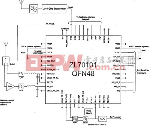 ZL70101外接元件图
