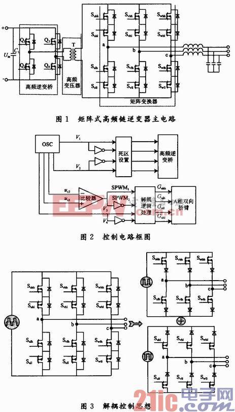 一种新型矩阵式高频链逆变器控制方法