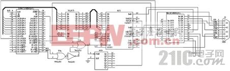 DS80C320与Modem硬件接口图