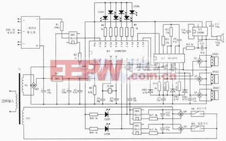 用单片机设计制作的开水器智能检测控制电路AT89C2051 Heater controller