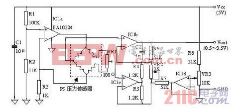 PS压力传感器的外围电路设计实例