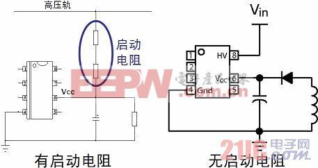 带启动电阻与不带启动电阻