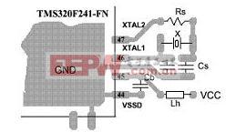 TMS320F241-FN单层电路印刷版