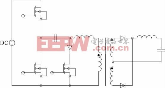 对称pwm 控制zvs半桥变换器
