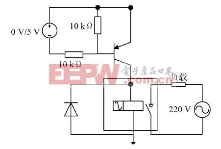 图3 远程控制开关控制电路
