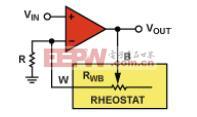 可变电阻器模式中的同相放大器