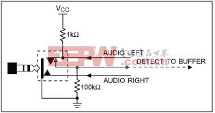 图1. 插孔自动检测电路