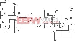 图4 直流母线电压采样电路
