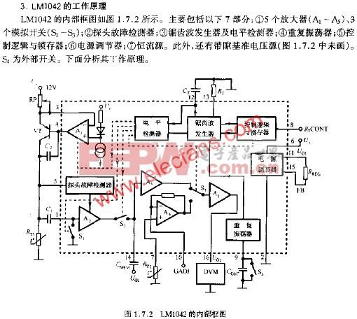 LM1042的内部框图  www.elecfans.com