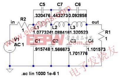 双端接低通滤波器示例www.elecfans.com