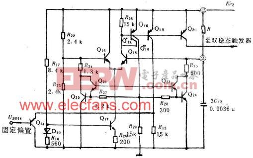 TA7609P集成电路中行振荡与行扫描同步原理