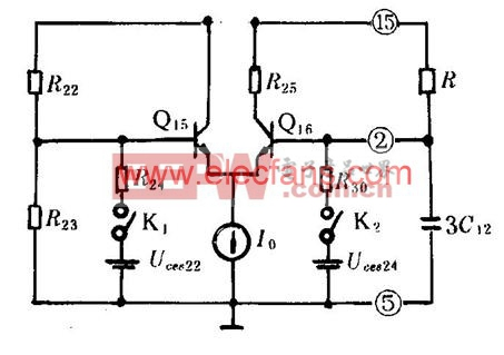 简化的行频振荡器
