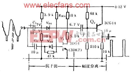 抗干扰电路与幅度分离电路 http://www.elecfans.com