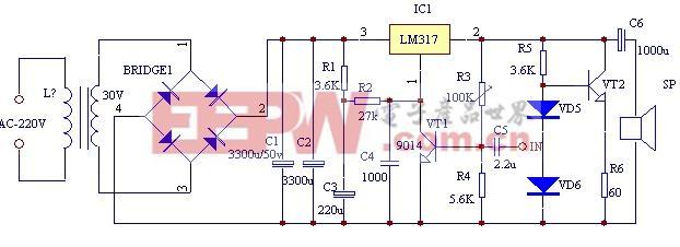 三端稳压LM317甲类功放的设计