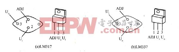 三端可调稳压器的外形与引脚配置