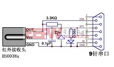 电脑遥控接收器的电路及制作步骤