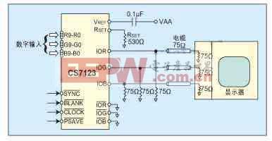 CS7123的典型电路连接图