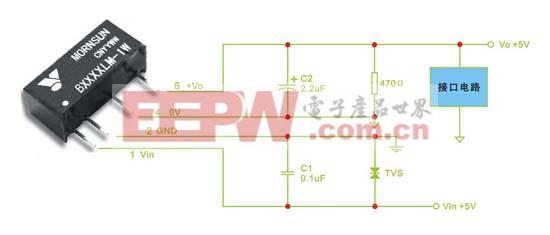 B0505LM-1W 典型应用电路