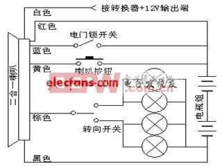 电动车喇叭接线设计分析图片