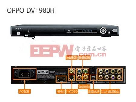 OPPO高清上转换DVD DV-980-H