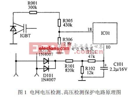 电网电压检测、高压检测保护电路原理图