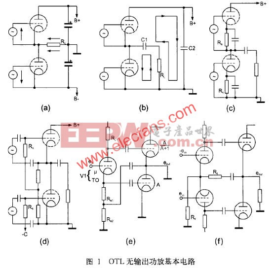 电子管OTL功放电路图  www.elecfans.com