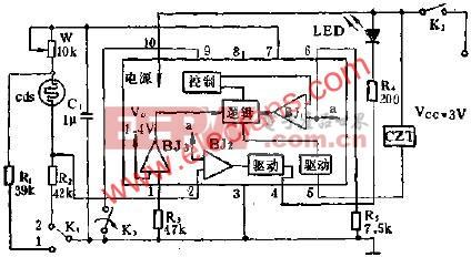 SF1212自动曝光集成电路的应用电路图  www.elecfans.com
