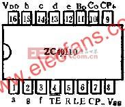 十进可逆计数、锁存、译码、显示驱动器ZC40110的应用