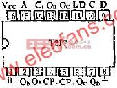 T217 2-10进制同步可预置可逆计数器的应用电路图  www.elecfans.com