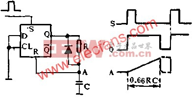 D触发器组成单稳态多谐振荡器电路