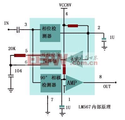 基于LM567的集成电路应用