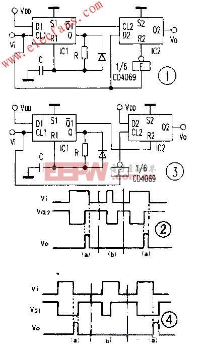 基于CMOS双D触发器CD4013的脉冲宽度检测电路设计