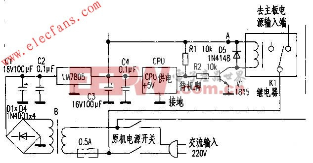宽屏彩电待机电路的改进 www.elecfans.com