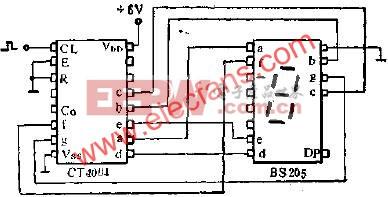 CT4004和BS205联接的应用线路图  www.elecfans.com