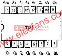 T331四线-十线译码器的应用线路图  www.elecfans.com