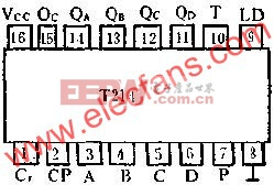 T214的管脚外引线排列及功用电路图  www.elecfans.com