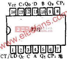 T211 2-5-10进制可预置计数器的应用电路图  www.elecfans.com