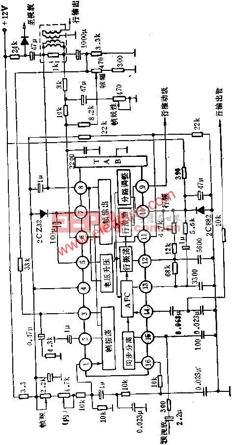 D1379C内部方框图及外围电路图  www.elecfans.com