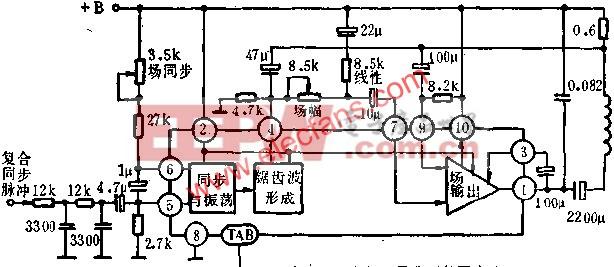 D1031内部功能方框图及典型外围电路图  www.elecfans.com