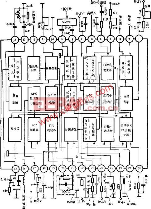 D7680AP正常工作时各脚的电压值  www.elecfans.com