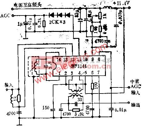 SF1144图象中放电路的应用电路图  www.elecfans.com
