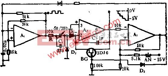 运算放大器组成阶梯波发生器电路图  www.elecfans.com