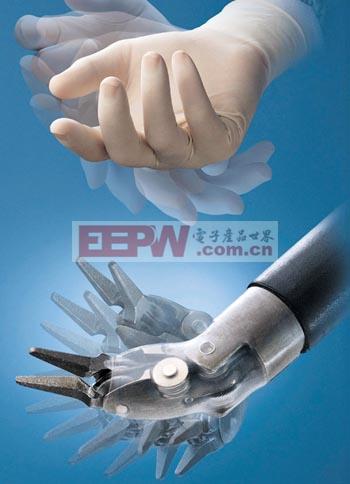 Intuitive Surgical 的腹腔镜机器人系统模仿人的手和手腕灵活性.