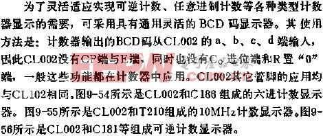 CL002 BCD码显示器的应用线路简介