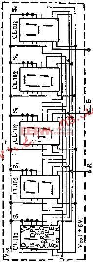 基于CL102的五位数码显示器线路简介