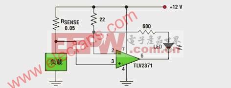 电流幅度的电路LED显示分析