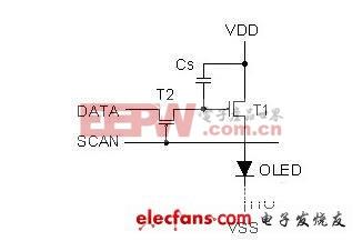 简易的主动式矩阵 OLED 单一像素控制