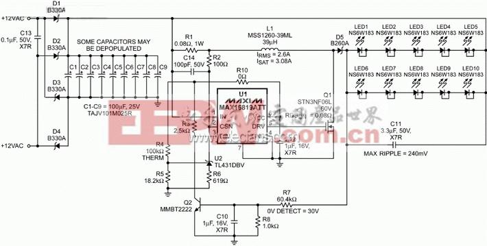 基于max16819的5s2p ar111 led灯的驱动器设计